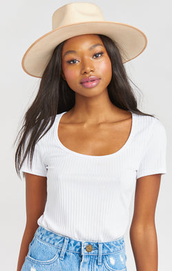 Lack of Color Teak Rancher Hat ~ Ivory