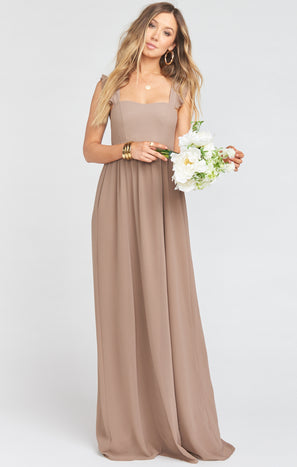 June Maxi Dress ~ Dune Chiffon