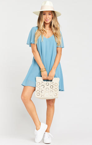 Kylie Mini Dress ~ Blue Moon