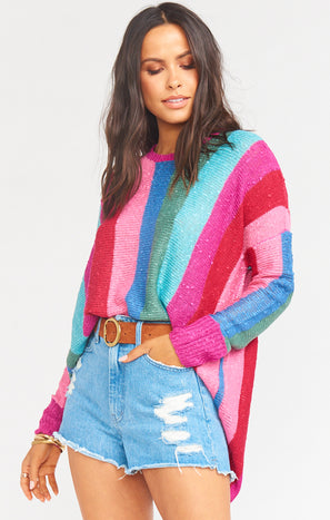 Bonfire Sweater ~ Madly Stripe Knit