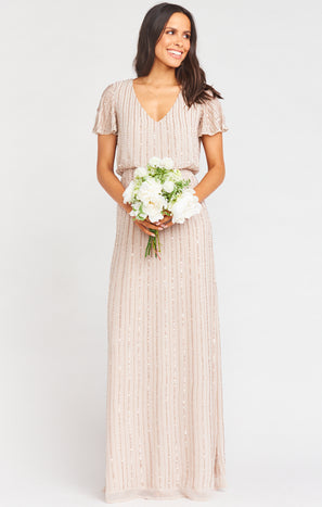 Michelle Flutter Maxi Dress ~ Show Me The Ring Beaded