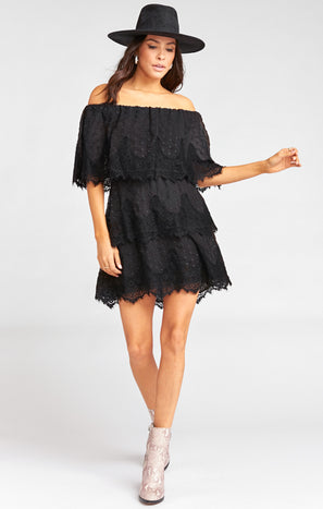 Lana Dress ~ Black Lace