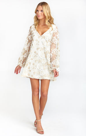 Webster Mini Dress ~ Precious Petals Lace