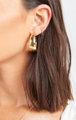 Janie Wide Hoop Earring ~ Gold