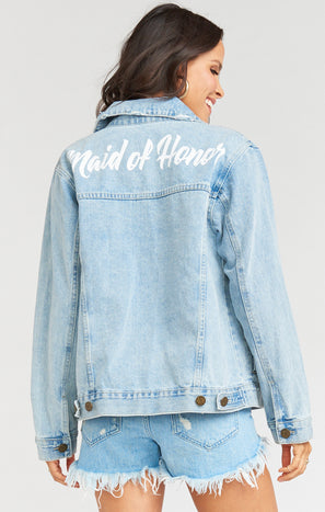 Dover Denim Jacket ~ Maid of Honor Graphic