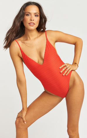 Siesta Key One Piece ~ Tomato Red