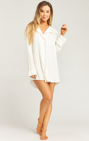 Beau Sleep Shirt ~ Bridal White