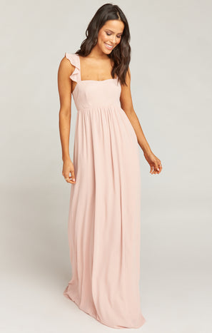June Maxi Dress ~ Dusty Blush Crisp