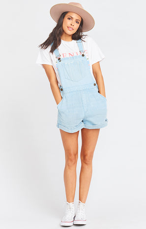 Georgia Roll Up Overalls ~ Celestial Blue