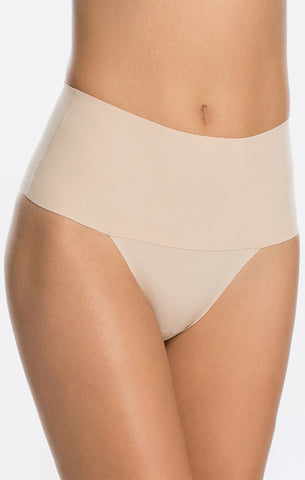 spanx undie-tectable thong ~ soft nude