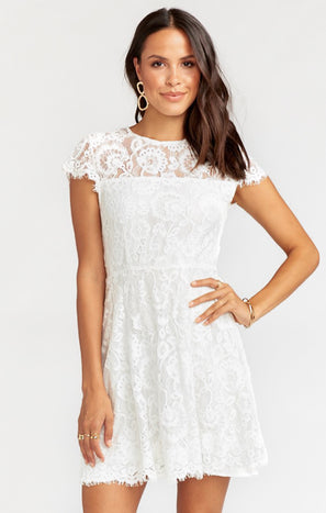 Alyce Dress ~ Darling Lace White