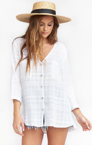 The Dahli Tunic ~ Sand Dollar Gauze