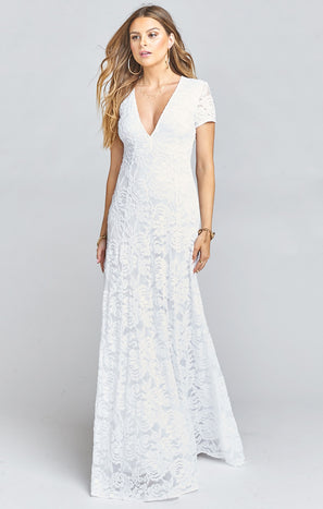 Eleanor Maxi Dress ~ Lovers Lace White