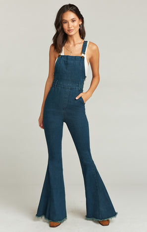 Berkeley Bell Overalls ~ Dark Rainstorm