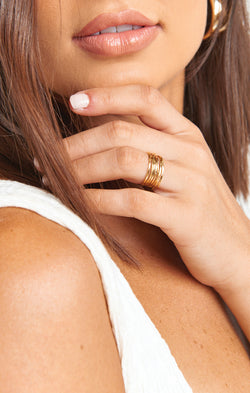 Ki.ele Celeste Wrap Ring ~ Gold