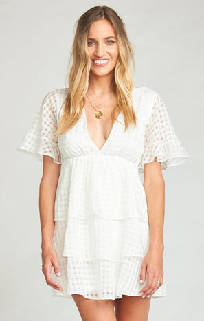 Dulce Dress ~ Charmed and Checkered Ivory