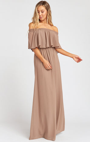 Hacienda Maxi Dress ~ Dune Chiffon