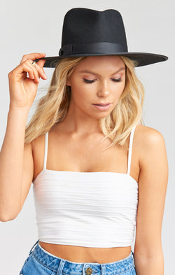 Lack of Color Noir Rancher Hat ~ Black