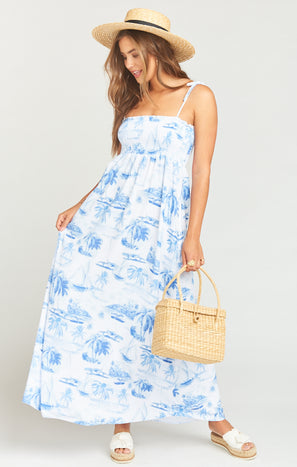 Maggie Maxi Dress ~ Sail Away