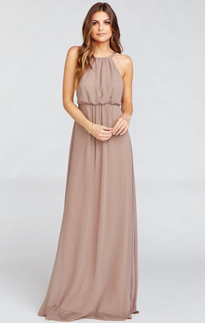 Amanda Maxi Dress ~ Dune Chiffon