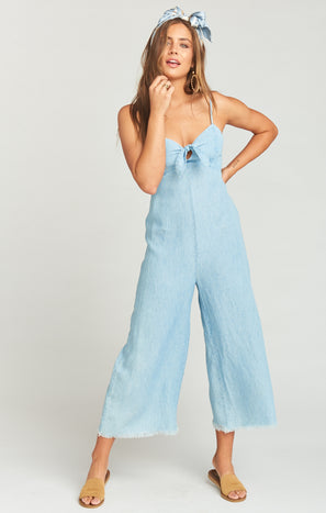 Paolo Playsuit ~ Shore Chambray
