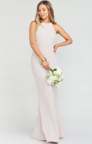 Chicago High Neck Gown ~ Show Me The Ring Stretch Crepe