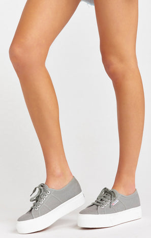 Superga 2790 Platform Sneakers ~ Grey