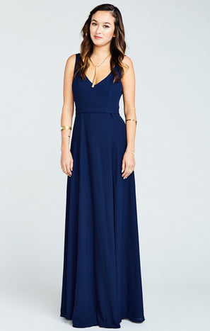Jenn Maxi Dress ~ Rich Navy Crisp