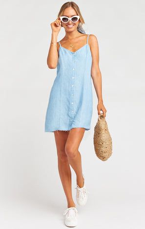 Remington Dress ~ Light Chambray
