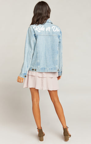 Dover Denim Jacket ~ Ride or Die Graphic