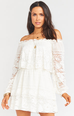 Bess Dress ~ Moonlight Roses Lace Cream