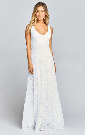 Jenn Maxi Dress ~ Lovers Lace White