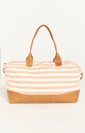Mumu x Veeshee Weekender Bag ~ Dreamsicle Stripe