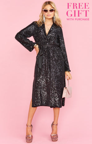 After Party Jacket Dress ~ Midnight Glitz Sequins