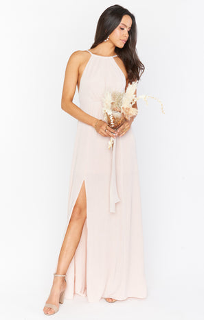Amanda Maxi Dress ~ Dancing Queen Shine Blush