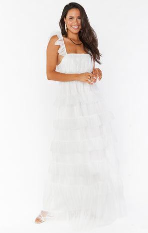Fairytale Maxi Dress ~ White Tulle
