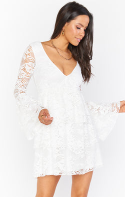 Chateau Dress ~ White Lace