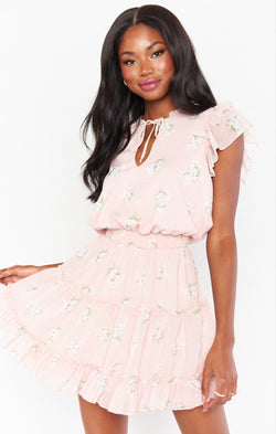 Wild Dreams Mini Dress ~ GWSXMUMU Blush Meadow