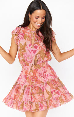 Wild Dreams Mini Dress ~ Garden Floral