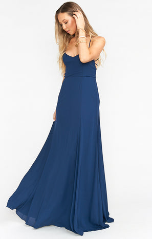 Godshaw Goddess Gown ~ Rich Navy Crisp
