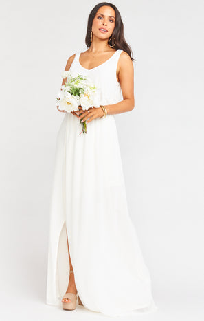 Kendall Maxi Dress ~ Wedding Cake Chiffon