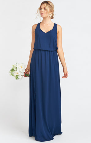 Kendall Maxi Dress ~ Rich Navy Crisp