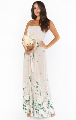 Lauren Tie Maxi Dress ~ Bouquet Toss