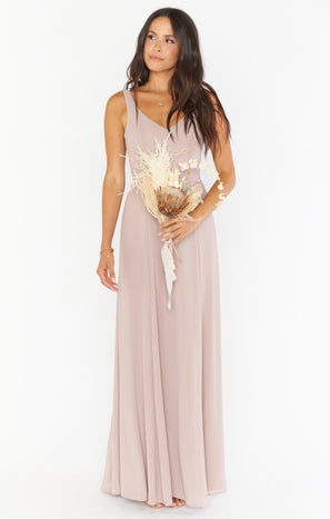 Jenn Maxi Dress ~ Soft Beige Chiffon