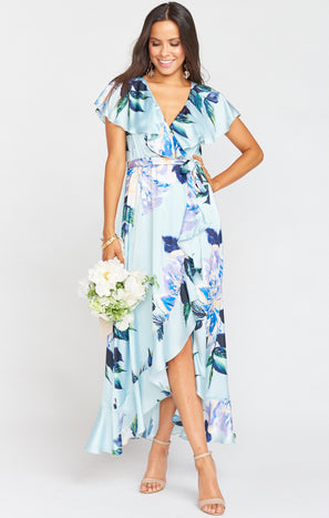 Jess Ruffle Midi Dress ~ Mint To Be Floral
