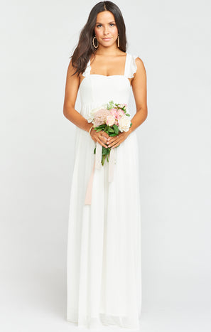 June Maxi Dress ~ Wedding Cake Chiffon