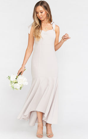 Barcelona Ruffle Gown ~ Show Me The Ring Stretch Crepe