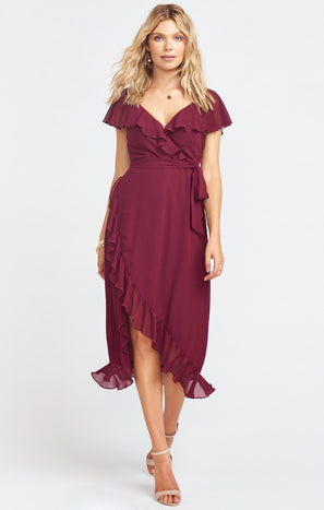 Granada Dress ~ Cabernet Chiffon