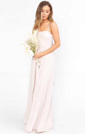 Lauren Tie Maxi Dress ~ Show Me the Ring Crisp