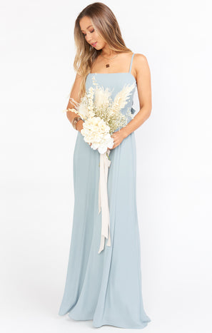 Lauren Tie Maxi Dress ~ Silver Sage Crisp